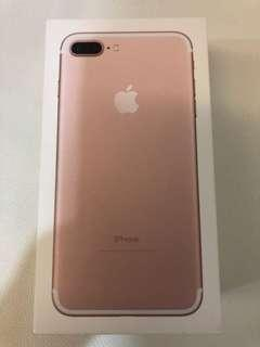 iPhone 7 Plus Rose Gold Empty Box