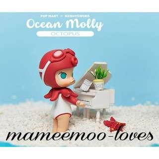 BN Molly Ocean Octopus Open Blind Box Kennyswork Popmart Clownfish Pop Mart