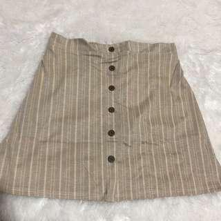 Brown Stripe Skirt