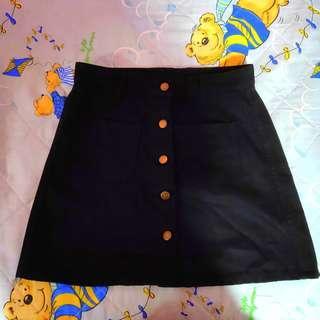 🚚 A Line Button Down Skirt
