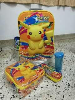 3D SCHOOL BAG Pokemon 4in1 (NEW) #MY1212
