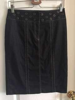 PARASUCO Fitted Denim Skirt Size 6-8