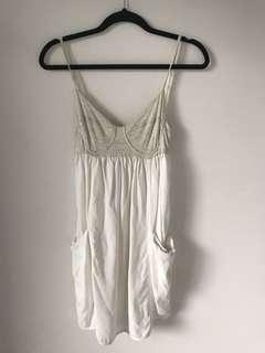 Wilfred baby doll dress - white with corset like top. Size 4