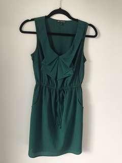 Flattering green shirt dress size S