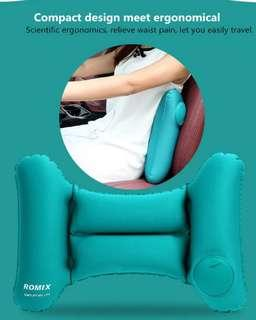 ROMIX RH35 | Travel Back Cushion Pillow Inflatable & Foldable