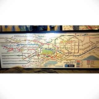【東京Metro】  車箱內橫向路線圖 都心全線
