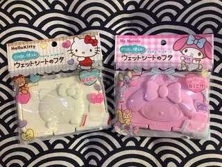 日本直送🇯🇵 - Hello Kitty / Melody 嬰兒濕紙巾蓋 baby wipe lid
