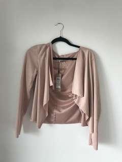 Never worn Blush Pink blazer Noisy May