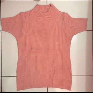 Turtleneck Pink Rajut