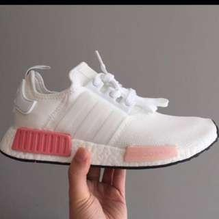 Adidas NMD R1 Wmns White Rose Pink $180