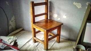【港味濃】80s 實木學童椅