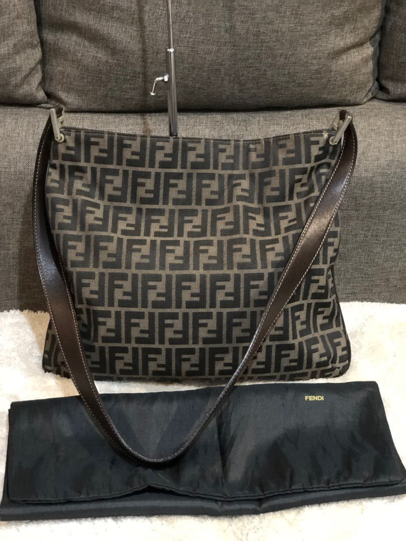 34f6cd3505b3 Authentic Fendi Zucca Large Sling Bag With Dustbag