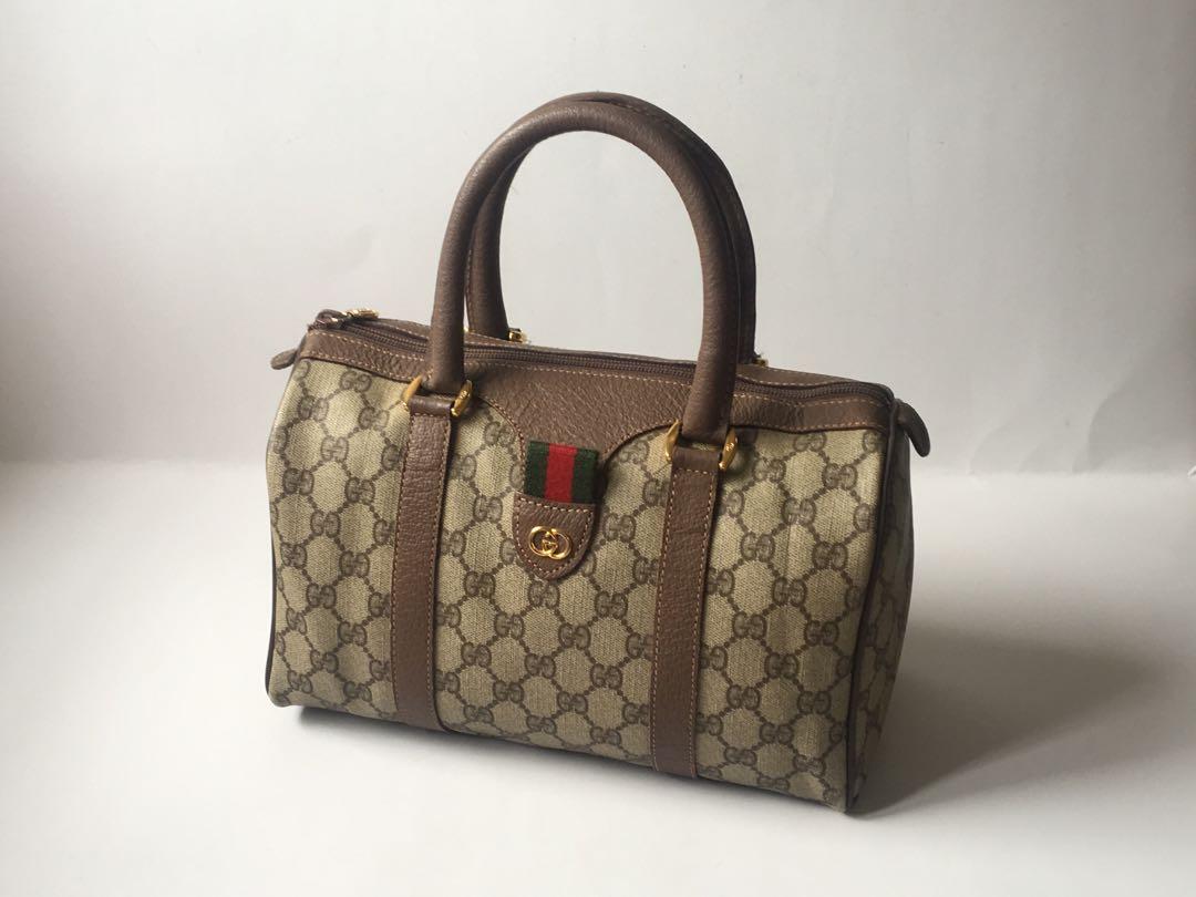 4ff6b13d283 Authentic Gucci 80 s Vintage Boston Speedy Bag