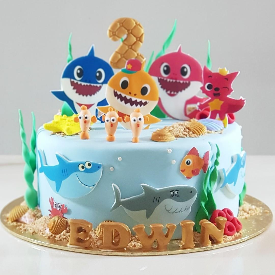Cool Baby Shark Birthday Cake Food Drinks Baked Goods On Carousell Funny Birthday Cards Online Fluifree Goldxyz