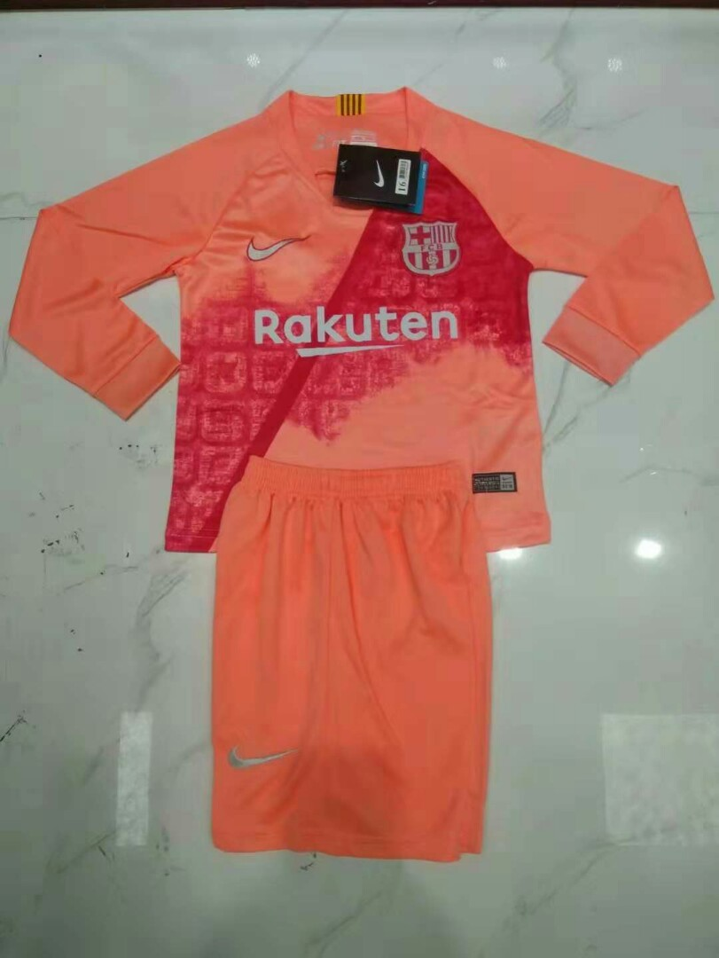reputable site 6657c 510e5 Barcelona 18-19 Kids Third Long Sleeve Jersey