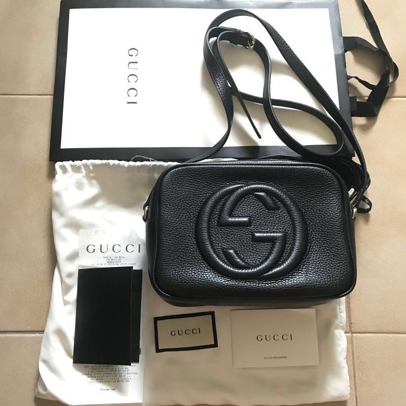 119eadcf4d13 BN GUCCI soho small leather disco bag, Luxury, Bags & Wallets, Sling ...