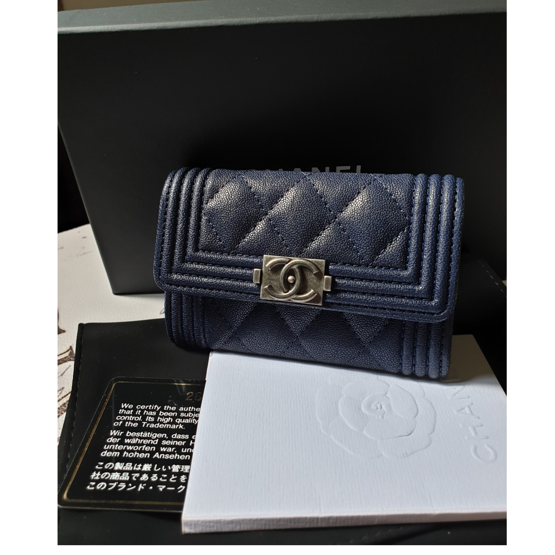 68278f1e7cbc21 *BRAND NEW* Boy Chanel Card Holder, Luxury, Bags & Wallets, Wallets on  Carousell