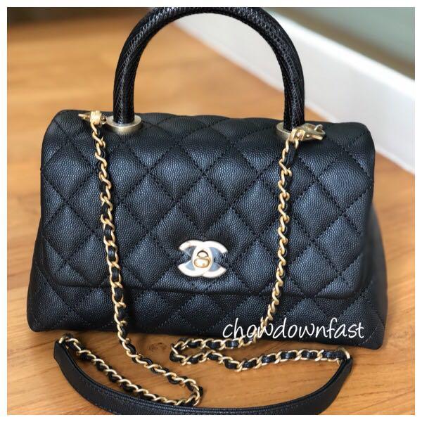 d47e7d636c3c Brand new Chanel mini Coco Handle bag with Lizard handle, Luxury ...
