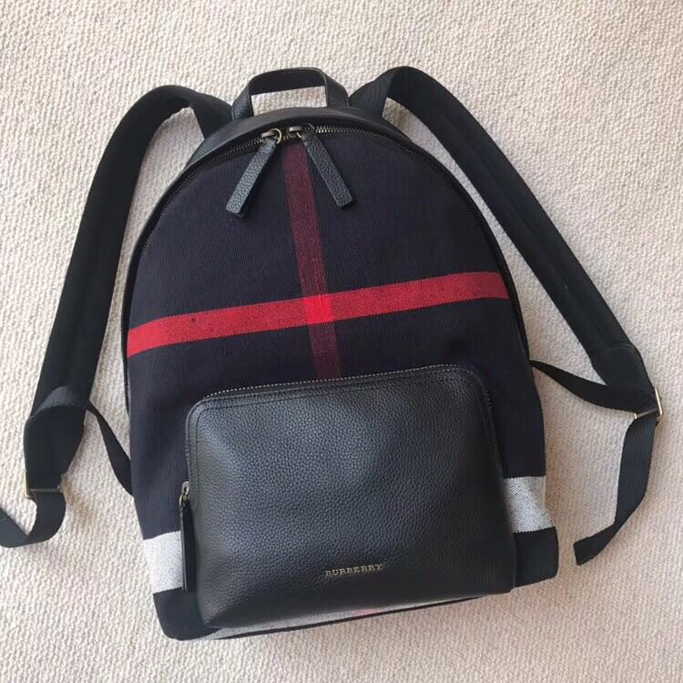 4da458828b9d Burberry Canvas Check   Leather Backpack