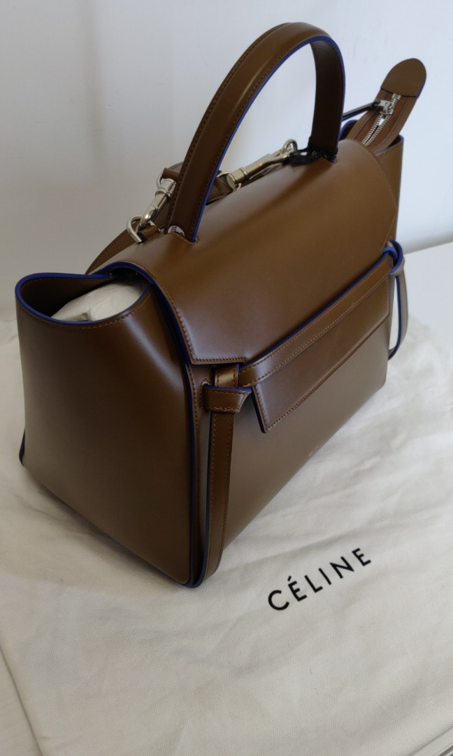 fa19407fdb CELINE Calfskin Mini Belt Bag Camel