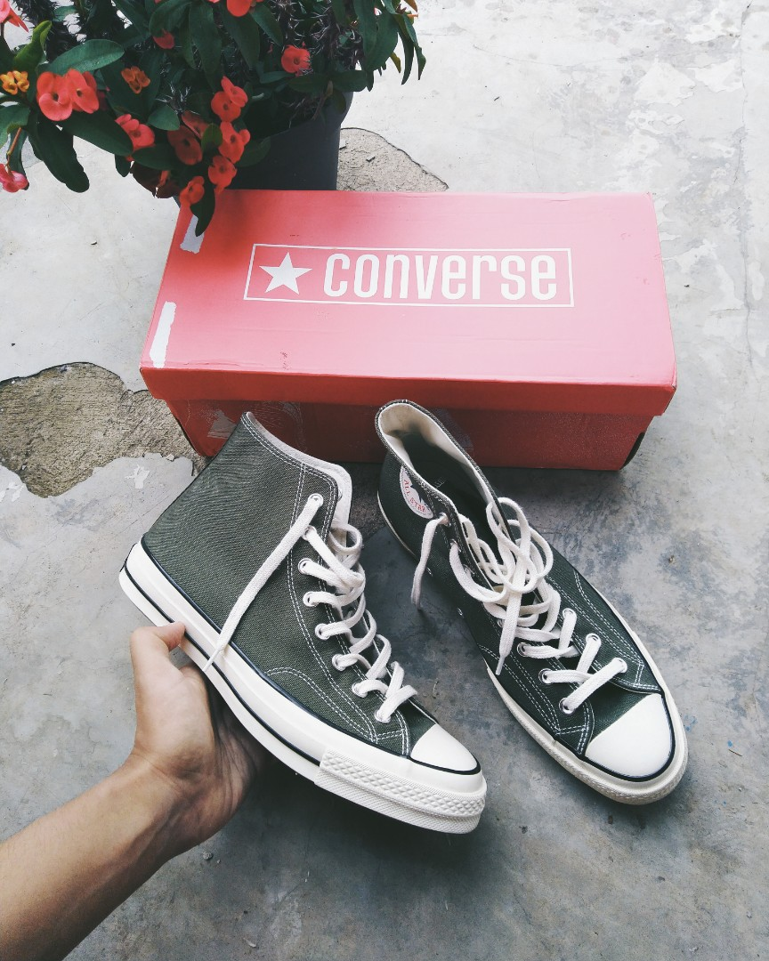 33bd4f63d0b6 Converse 70s High green herbal
