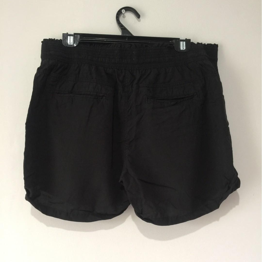 Country Road Black Linen Blend Shorts