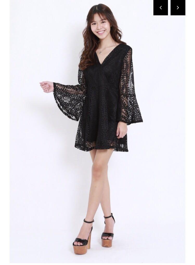 fde5225f8af Crochet black lace dress