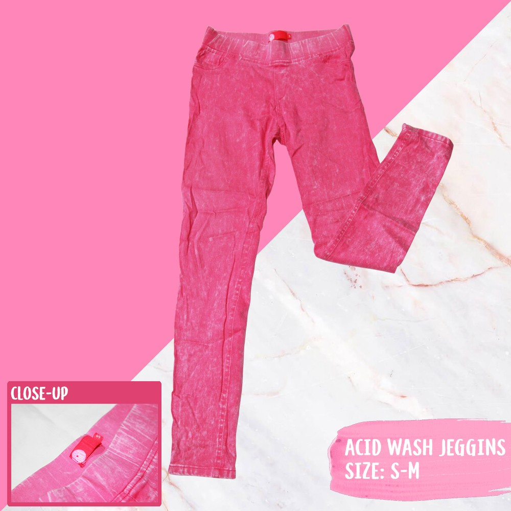 11e7152e9bf77 ELLE Girl Pink acid Wash Jeggings