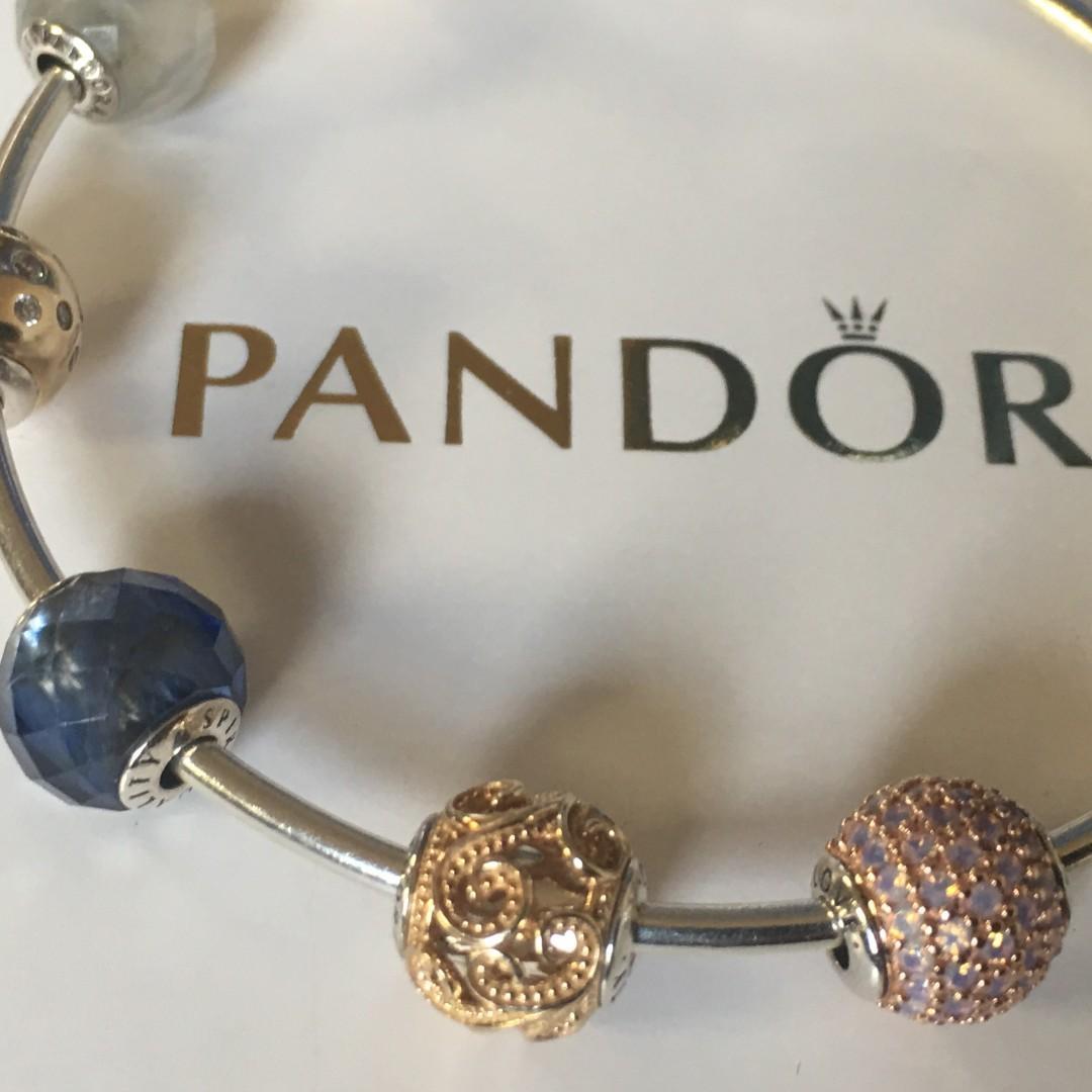 Essence bracelets+ 7 charms (incl. 5 14k gold charms)