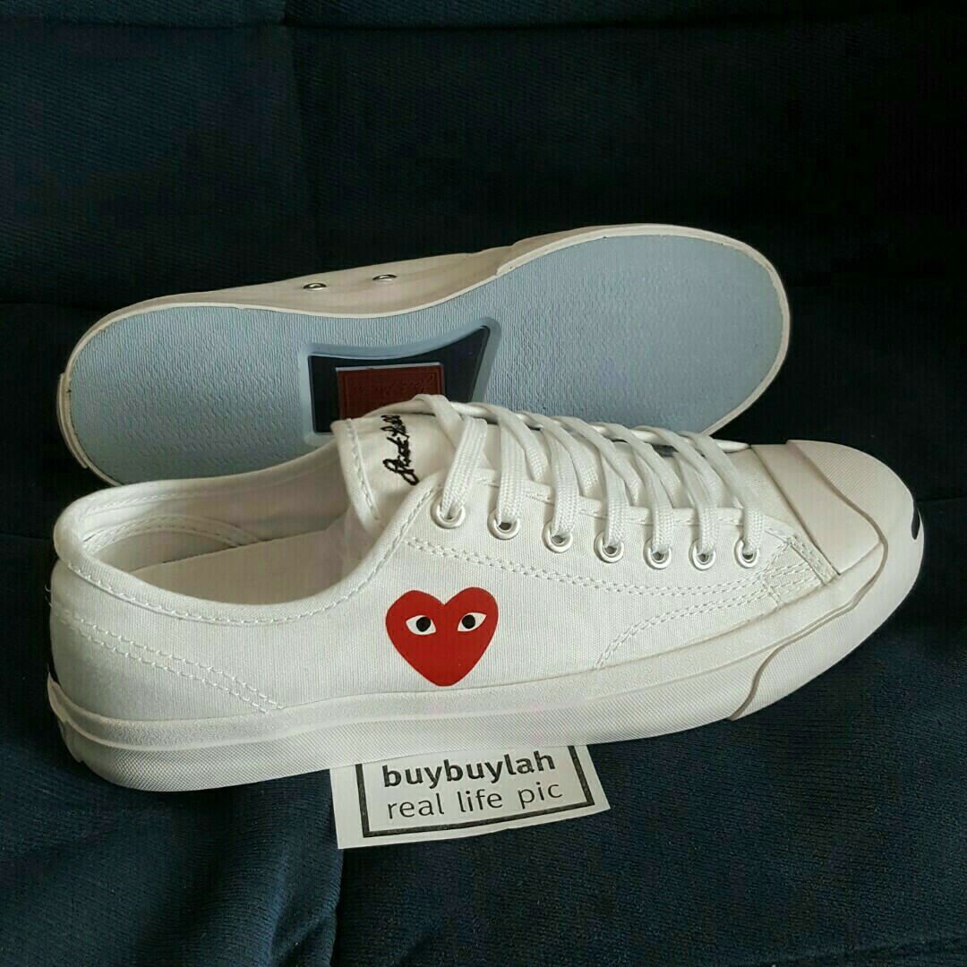 4ab76ee3a81b Eur43 🔴 Jack Purcell x Red Heart White Canvas Shoes