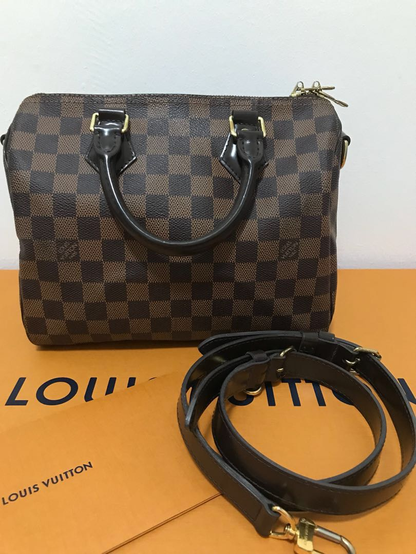 e5ea5a7b3cf5 FINAL 1100  Louis Vuitton Speedy 25 Damier Ebene