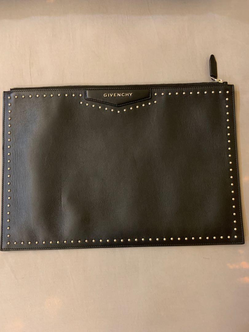 74eebf957e givenchy antigona studded leather clutch pouch