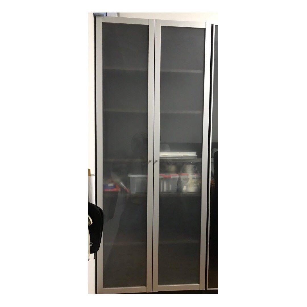 Ikea Billy Bookcase Book Shelf With Door 80x28x202cm