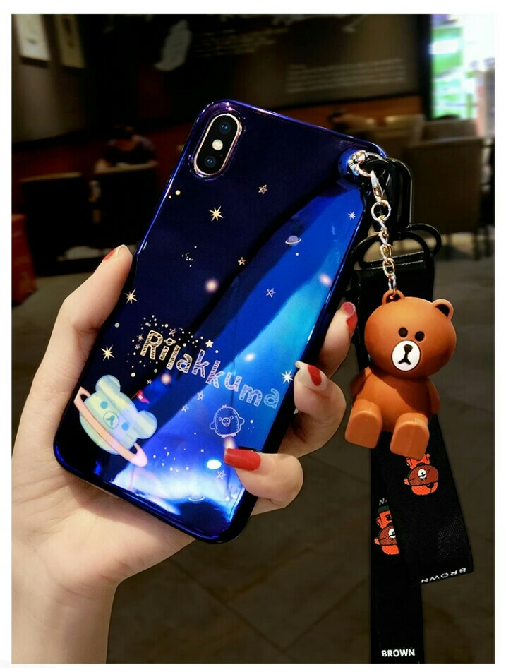 cheap for discount aa85b 6188f [INSTOCK] Rilakkuma With Bear Stand & Lanyard Phone Case