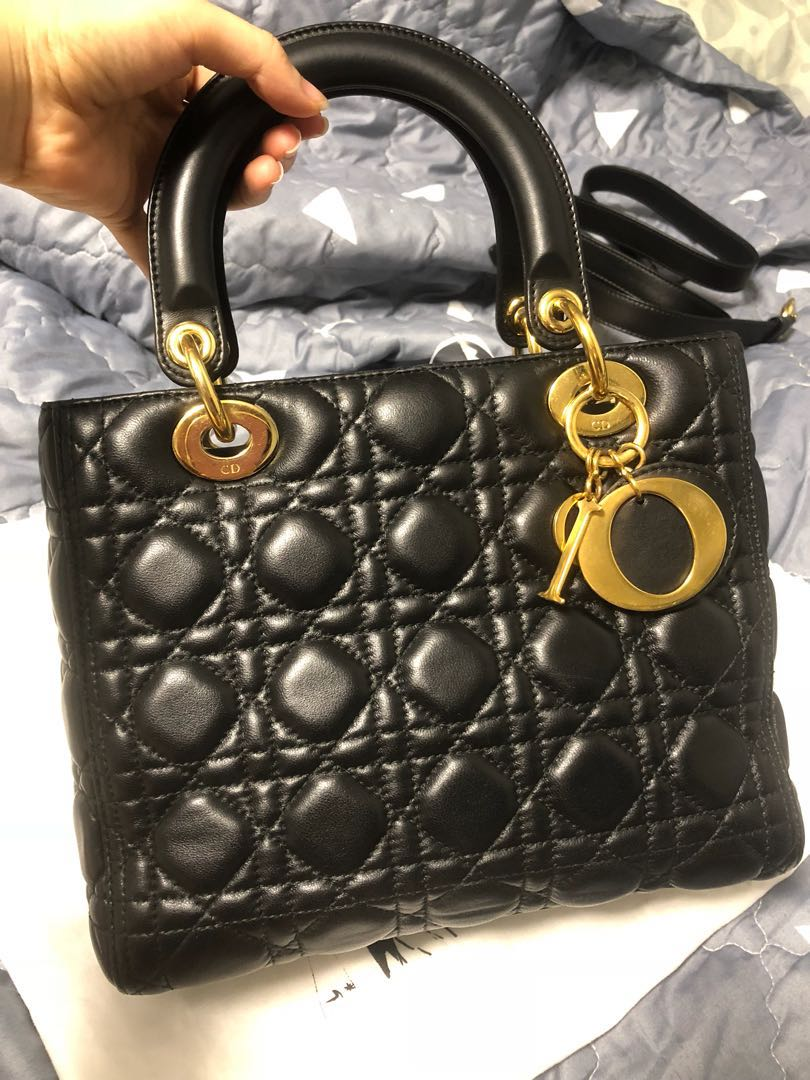5da1920cd93f Lady Dior 2017 medium, Luxury, Bags & Wallets, Handbags on Carousell