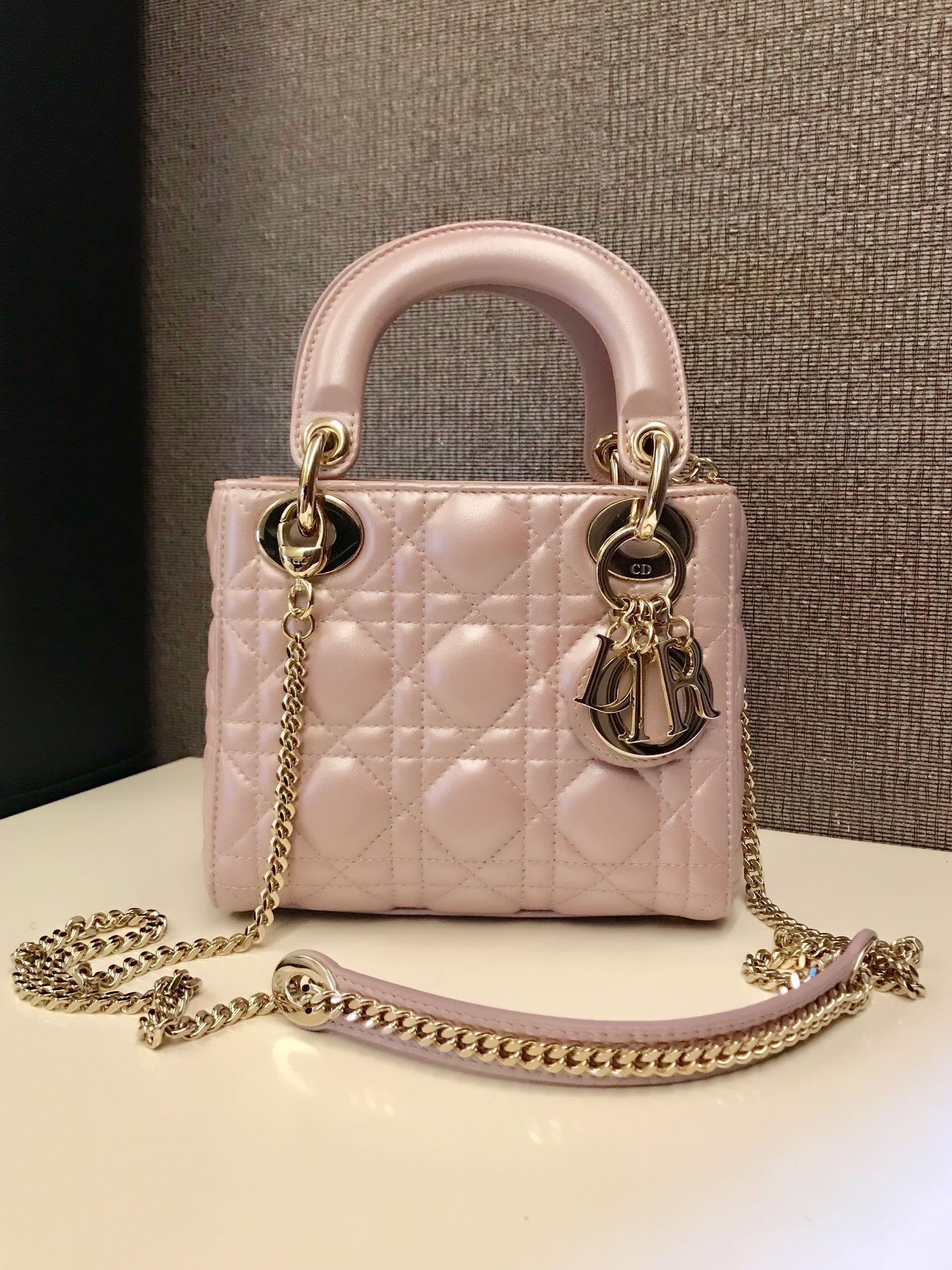 16132e52e028 Lady Dior Mini in Pearly Pink