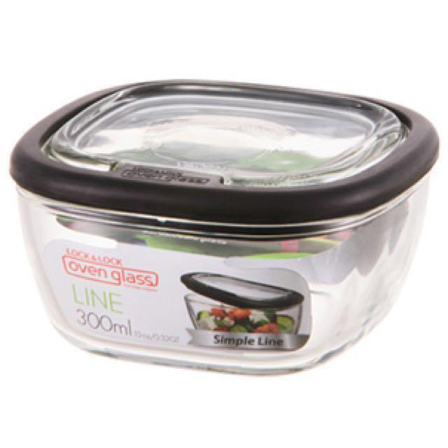 f8a1c3b3980e Lock & lock borosilicate glass lunch box container cooking baking ...