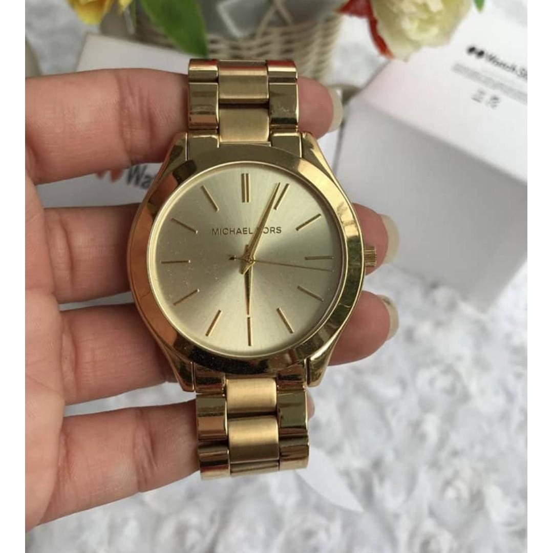 8a83276a407b Michael Kors Slim Runway Champagne Dial Women s Watch - MK3179 ...