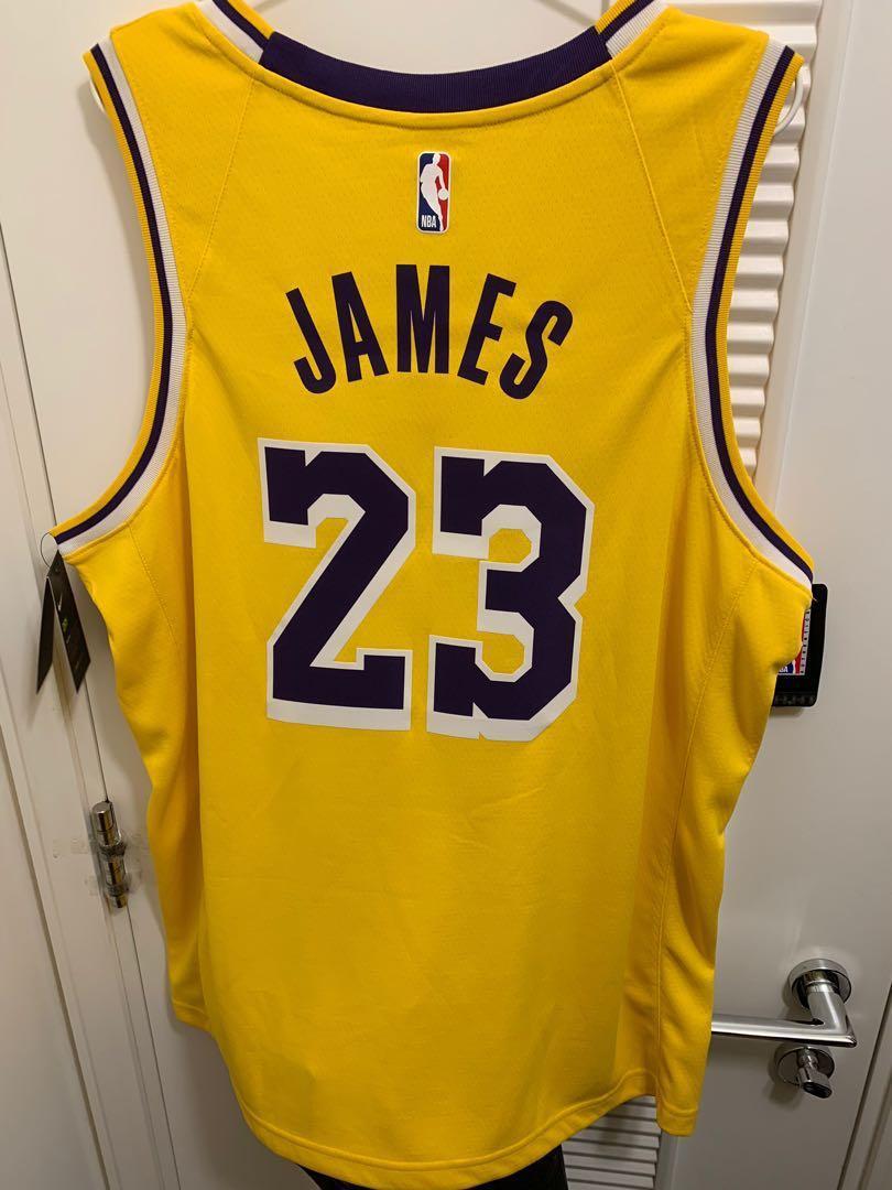 NBA Nike Leborn James Lakers Jersey