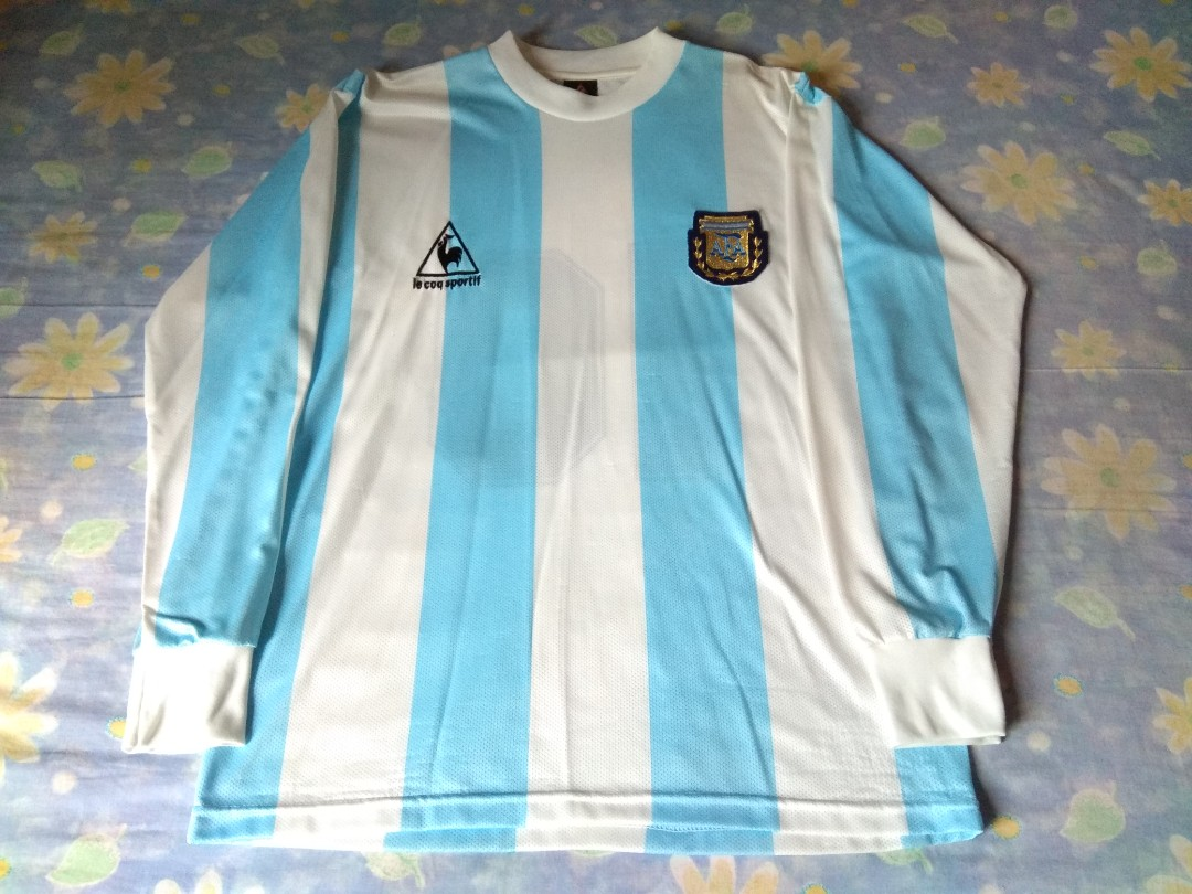 92f4f3ca7fc Never Been Worn Authentic Argentina Le Coq Sportif 1986 Home Long ...