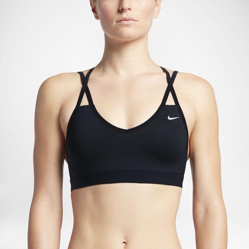 c8e6d06539c97 Nike Pro Indy Strappy Bra - Black (XS)