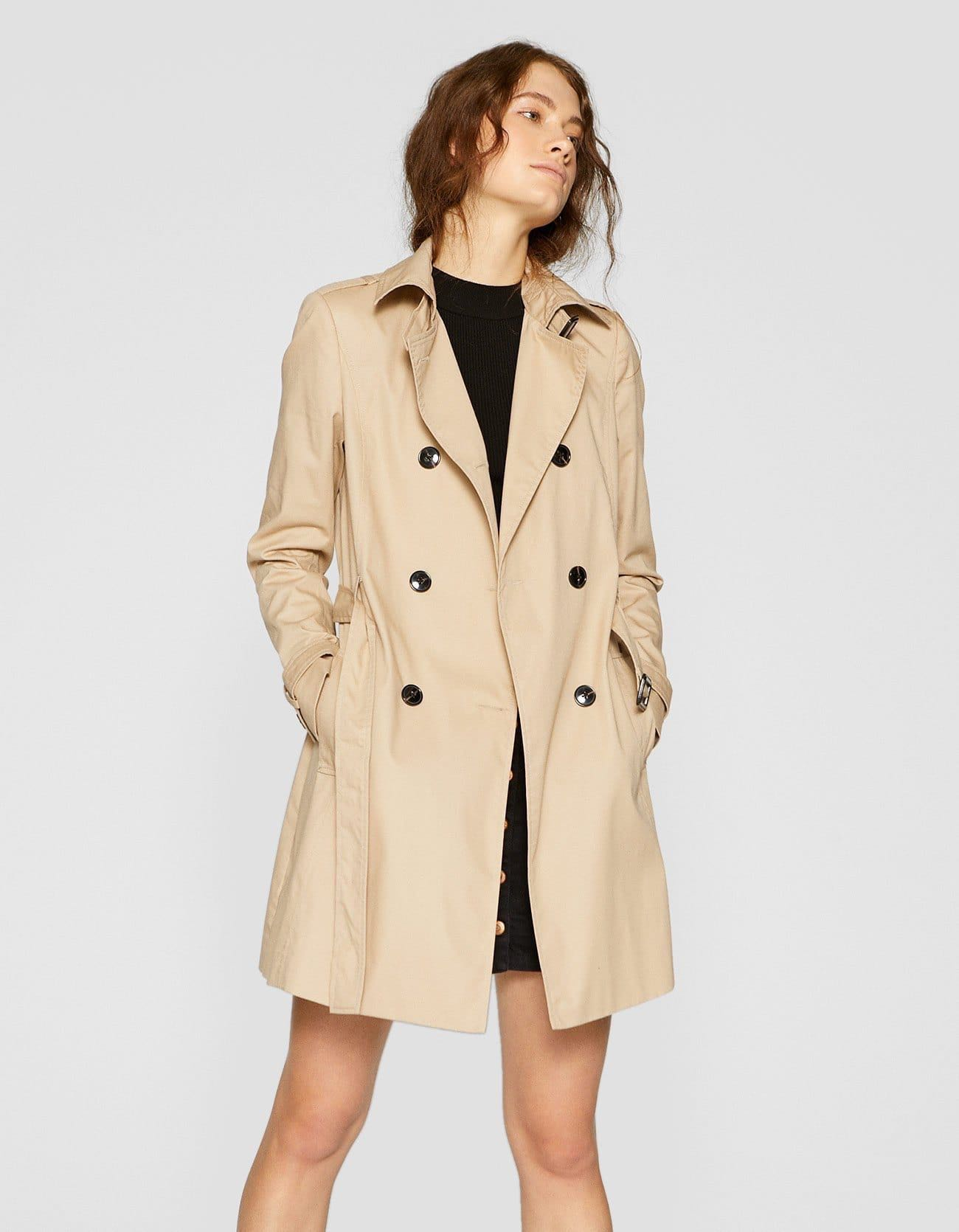 NO NEGO Stradivarius Lapel Collar Trench Coat, Women's Fashion, Clothes,  Outerwear on Carousell