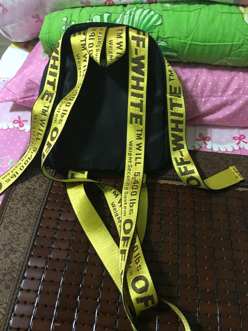 Off white small bagpack