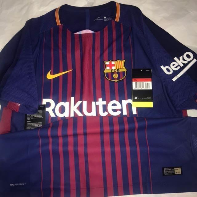 Específicamente tugurio objetivo  Official Authentic NIKE Barcelona FC 2017-2018 Home Vapor Match Aeroswift  jersey., Sports, Sports Apparel on Carousell
