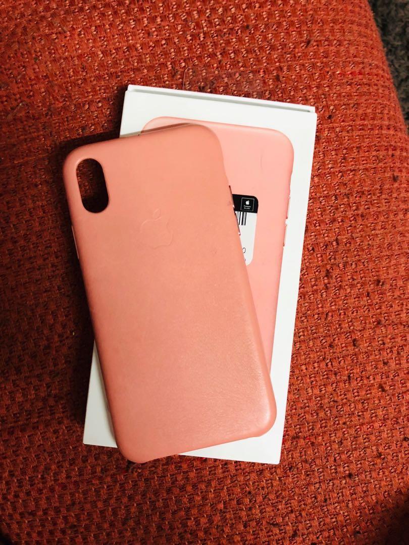 designer fashion 502f5 e41d1 Ori Iphone X & XS Leather Case ( SOFT PINK )