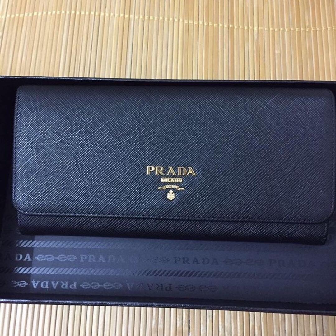 689c9f592646 Prada saffiano long wallet with detachable card holder, Women's ...