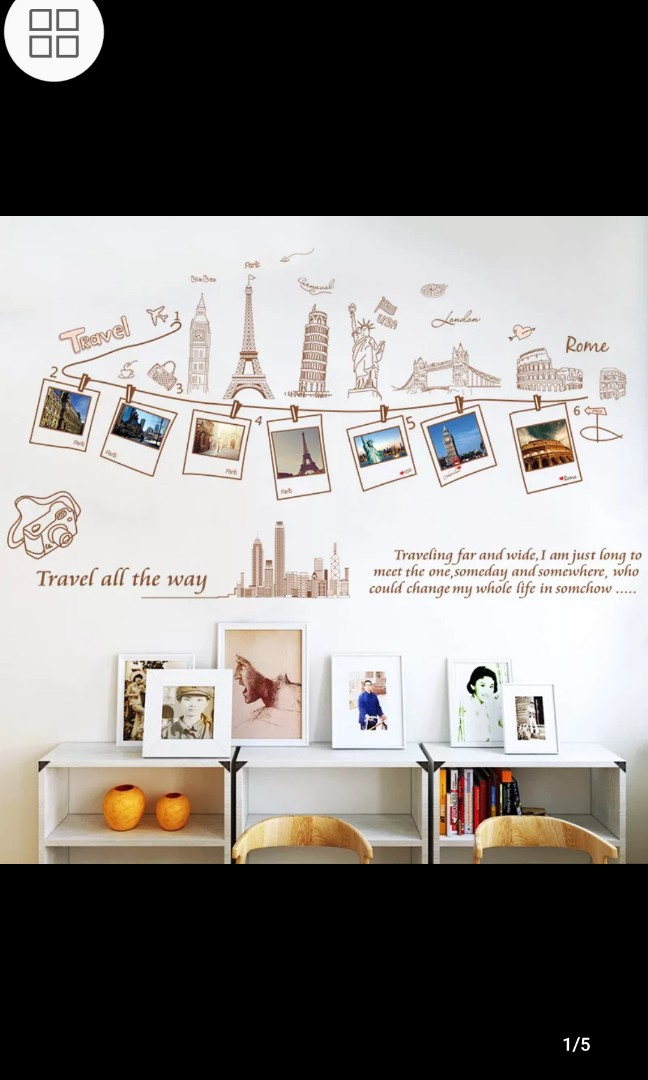 Self Adhesive Wall Stickers Bedroom Living Room Sofa Background