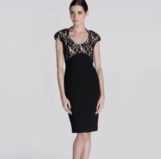 caebf913d3e Ted Baker Lace Briony Cap Sleeve Bodycon Dress Size 1