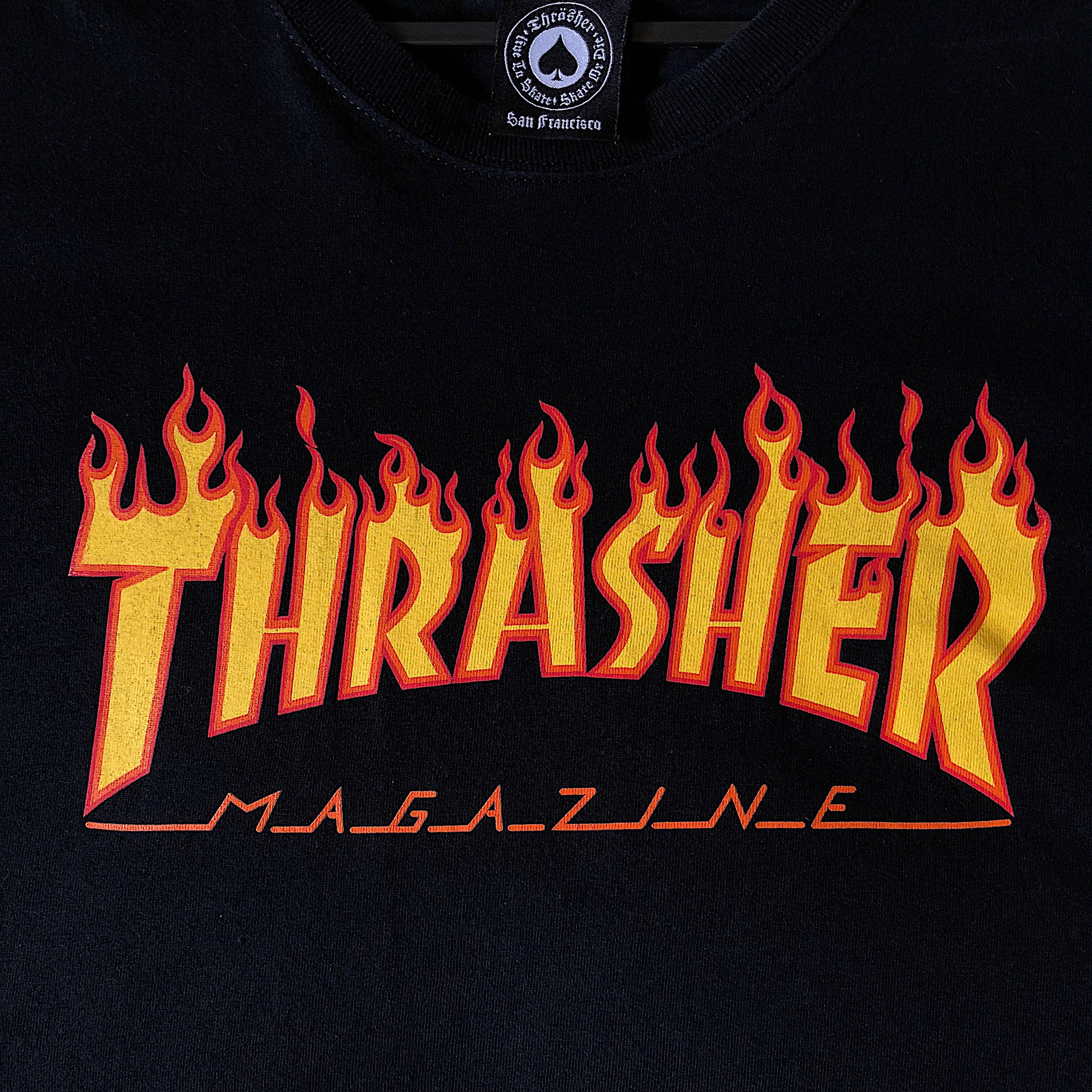 26674a0c0adc Thrasher Flame Tee, Men's Fashion, Clothes, Tops on Carousell