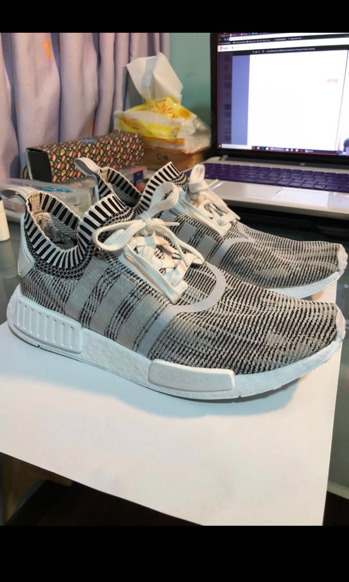 039175e977f80 URGENT] Adidas NMD R1PK Glitch Grey Camo, Men's Fashion, Footwear ...